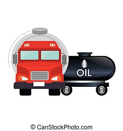 oil tank truck transportation vehicle. vector illustration