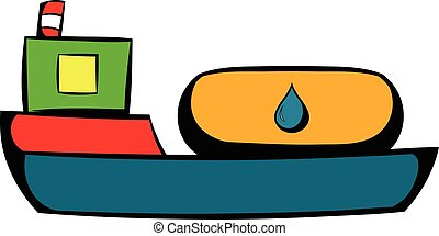 Oil tanker icon, icon cartoon