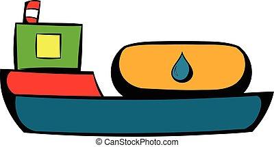 Oil tanker icon, icon cartoon