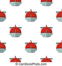 Oil tanker icon in cartoon style isolated on white background. Oil industry pattern stock vector illustration.