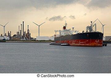 Oil Tanker in Dock