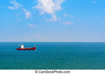 Oil Tanker in the Sea