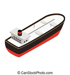Oil tanker isometric 3d icon. Single symbol isolated on a...