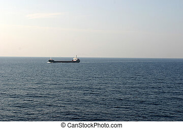 Oil tanker on sea