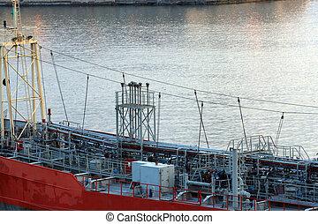 oil tanker or bunkering barge