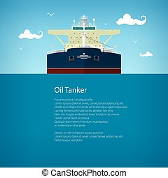 Oil Tanker Poster Brochure Flyer Design