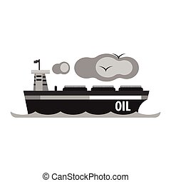Oil tanker ship. Production and transportation of oil and...