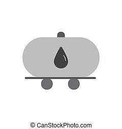 oil tanker truck flat icon vector design illustration.