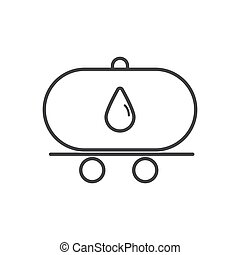 oil tanker truck outline icon vector design illustration.
