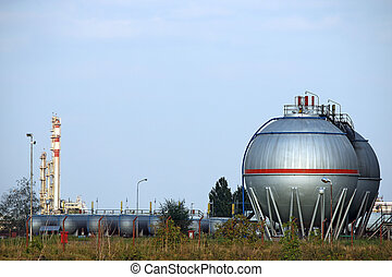 oil tanks and petrochemical plant