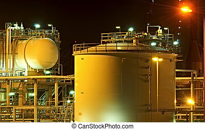High Dynamic Range impression of oil tanks in the Port of Rotterdam