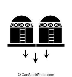 oil tanks refinery flat style icon