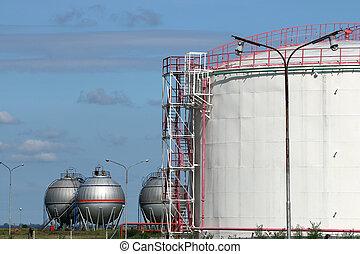 oil tanks refinery industry zone