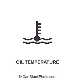 Oil Temperature creative icon. Simple element illustration. Oil Temperature concept symbol design from car parts collection. Can be used for web, mobile, web design, apps, software, print.