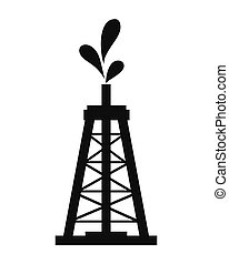 Oil tower icon. - flat design Oil tower icon vector...