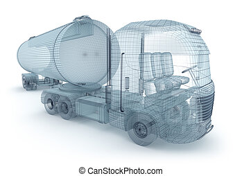 Oil truck with cargo container