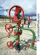 Oil valve and gate valve.