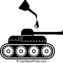Oil war - Creative design of oil war