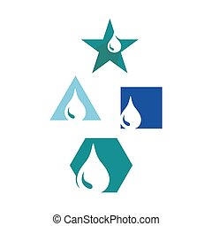 oil water droplet logo design vector icon the symbol of a liquid drop symbol illustration