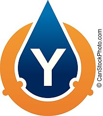 Oil Water Pipe Solutions Letter Y