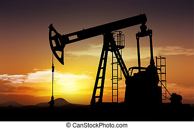 oil field and oil pump extraction