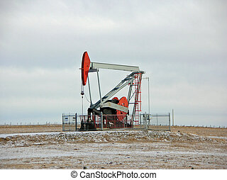 oil well pump - pump in an oil field