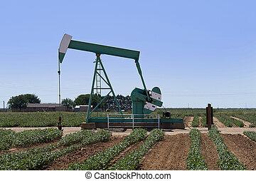 Oil Well Pumper in West Texa