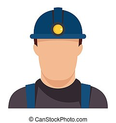 Oil worker flat icon vector illustration for oil design and web isolated