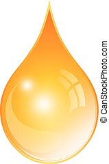 Oil yellow drop icon