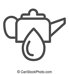 Oiler can line icon. Oiling can vector illustration isolated on white. Motor oil outline style design, designed for web and app. Eps 10.