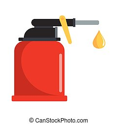 Oiler flat icon vector illustration for petrol design and...