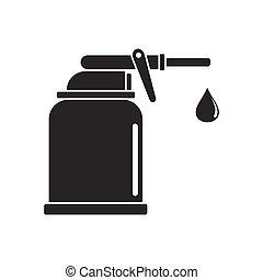 Oiler icon, silhouette style - Oiler icon. Black silhouette...