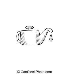 Oiler sketch icon.