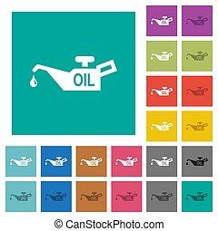 Oiler square flat multi colored icons