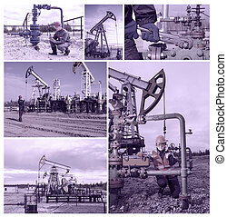 oilfield, collage