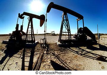 Oilfield Pumping Jacks - Image of pumping jacks in...