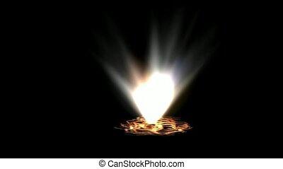 oilfield spew fire gas in hell