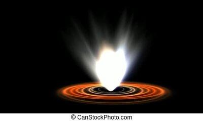oilfield spew fire gas in hell,ripple energy launch rays...