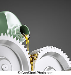 Oiling Gears Close-up