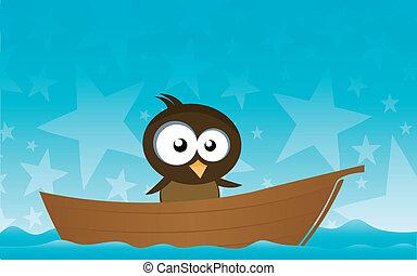 oiseau, bateau