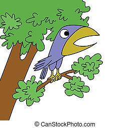 oiseau blanc, fond, dessin