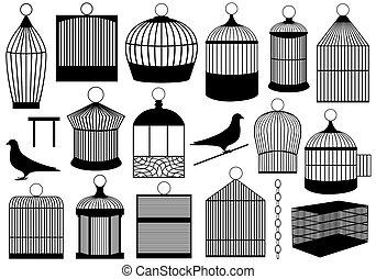 oiseau, cages