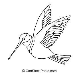 oiseau, chanson, vecteur, 9