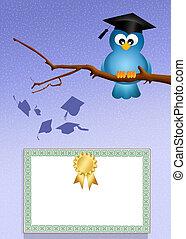 oiseau, diplômé