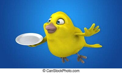 oiseau, jaune