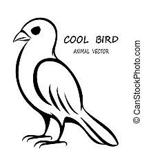 oiseau noir, 10, eps, vecteur