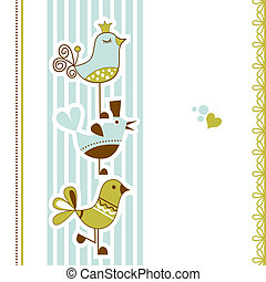 oiseaux, douche bébé