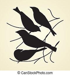 oiseaux, icônes