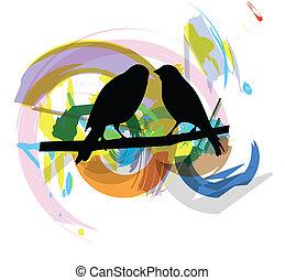 oiseaux, illustration