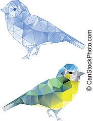 oiseaux, modèle, géométrique
